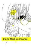 Фешн-розмальовка #girls#fashion#manga